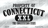 Property Of Connecticut Novelty Metal Magnet
