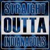Straight Outta Indianapolis Novelty Metal Square Sign
