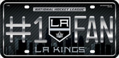 LA Kings Fan Metal Novelty License Plate