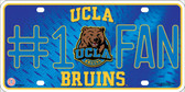 UCLA Fan Deluxe Metal Novelty License Plate