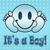 Its A Boy Novelty Metal Square Sign