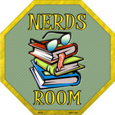 Nerds Room Metal Novelty Stop Sign