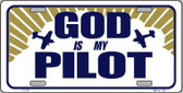 God Is My Pilot Metal Vanity Novelty License Plate