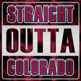Straight Outta Colorado Novelty Metal Square Sign