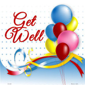 Get Well Novelty Metal Square Sign