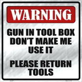 Please Return Tools Novelty Metal Square Sign