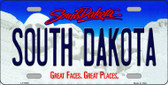 South Dakota Background Novelty Metal License Plate