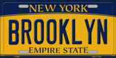 Brooklyn New York Background Novelty Metal Novelty License Plate