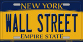 Wall Street New York Background Novelty Metal License Plate
