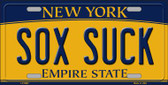 Sox Suck New York Background Novelty Metal Novelty License Plate