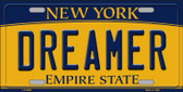 Dreamer New York Background Novelty Metal License Plate
