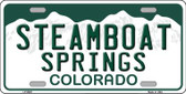Steamboat Springs Colorado Background Novelty Metal License Plate