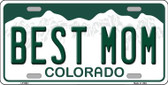 Best Mom Springs Colorado Background Novelty Metal License Plate