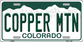 Copper Mountain Colorado Background Novelty Metal License Plate