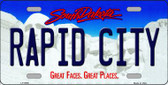Rapid City South Dakota Background Novelty Metal License Plate