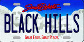Black Hills South Dakota Background Novelty Metal License Plate
