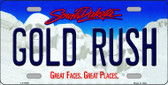 Gold Rush South Dakota Background Novelty Metal License Plate