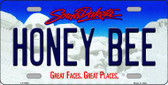 Honey Bee South Dakota Background Novelty Metal License