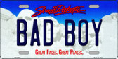 Bad Boy South Dakota Background Novelty Metal License Plate