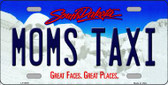 Moms Taxi South Dakota Background Novelty Metal License Plate