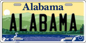 Alabama Background Novelty Metal License Plate