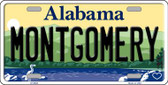 Montgomery Alabama Background Novelty Metal License Plate