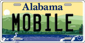 Mobile Alabama Background Novelty Metal License Plate