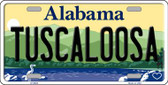 Tuscaloosa Alabama Background Novelty Metal License Plate