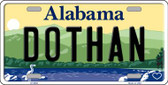 Dothan Alabama Background Novelty Metal License Plate