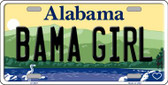 Bama Girl Alabama Background Novelty Metal License Plate