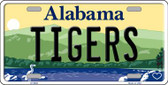 Tigers Alabama Background Novelty Metal License Plate