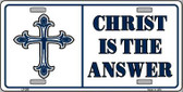 Christ Is The Answer Metal Vanity Novelty License Plate