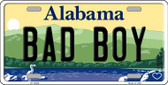 Bad Boy Alabama Background Novelty Metal License Plate