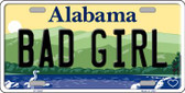 Bad Girl Alabama Background Novelty Metal License Plate