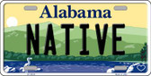 Native Alabama Background Novelty Metal License Plate