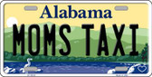 Moms Taxi Alabama Background Novelty Metal License Plate