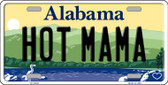 Hot Mama Alabama Background Novelty Metal License Plate