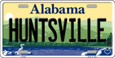 Huntsville Alabama Background Novelty Metal License Plate