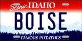 Boise Idaho Background Novelty Metal License Plate