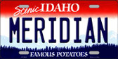 Meridian Idaho Background Novelty Metal License Plate