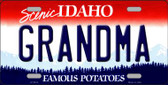 Grandma Idaho Background Novelty Metal License Plate