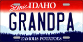 Grandpa Idaho Background Novelty Metal License Plate