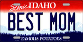 Best Mom Idaho Background Novelty Metal License Plate