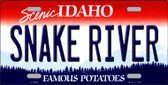 Snake River Idaho Background Novelty Metal License Plate