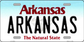 Arkansas Background Novelty Metal License Plate