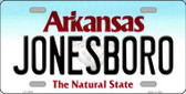 Jonesboro Arkansas Background Novelty Metal License Plate