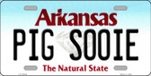 Pig Sooie Arkansas Background Novelty Metal License Plate