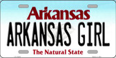 Arkansas Girl Arkansas Background Novelty Metal License Plate