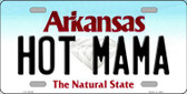 Hot Mama Arkansas Background Novelty Metal License Plate