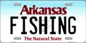 Fishing Arkansas Background Novelty Metal License Plate